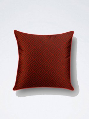 Geometrical Red Cushion
